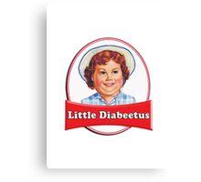 Little Diabeetus (little Debbie) 'lil debbie logo parody Canvas Print