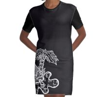 Turtle Style Graphic T-Shirt Dress