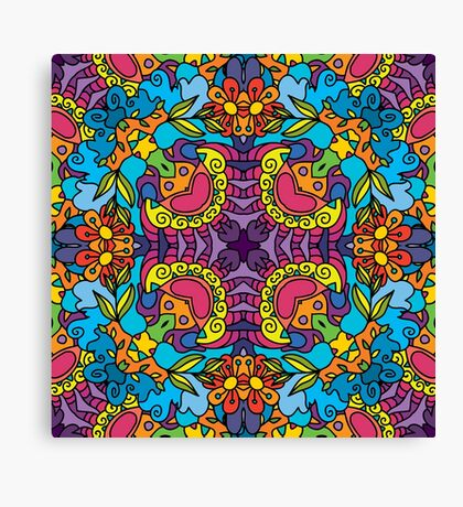 Psychedelic LSD Trip Ornament 0004 Canvas Print