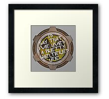 I've been sheltered in a nuclear fallout bunker geek Framed Print