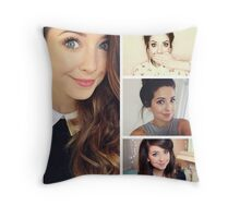 Zoella collage Throw Pillow
