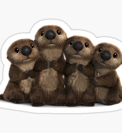 an Otter Party is a Cuddle Party Sticker