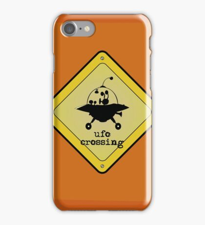UFO crossing sign iPhone Case/Skin
