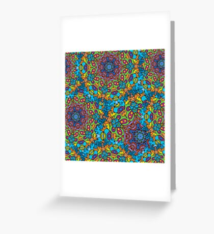 Psychedelic LSD Trip Ornament 0005 Greeting Card