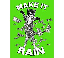 Kitten make it rain money (dollar bills) Photographic Print