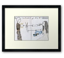 I miss the sound of your sewing machine since you're gone Framed Print