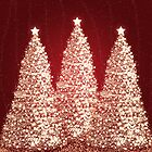 Elegant Christmas Gold Trees Red by Rewards4life