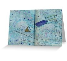 Sometimes I can't tell if I'm you like last night I you bathing my your feet II Greeting Card