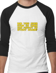 Winnie The Pooh Funny Quote Cool Cartoon Clever  Men's Baseball ¾ T-Shirt