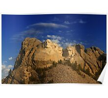 Sunrise over Mount Rushmore National Memorial Poster
