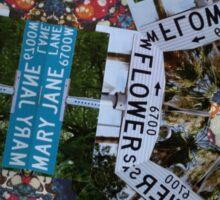 Mary Jane Lane - Flower Sticker