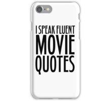 Movie Quotes Funny Cool Random Film Buff iPhone Case/Skin