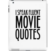 Movie Quotes Funny Cool Random Film Buff iPad Case/Skin
