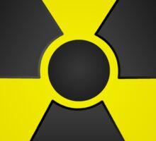 Radioactive Fallout Symbol Nerd Sticker