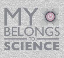 My Heart Belongs to Science ~ Companion Cube Kids Tee