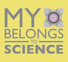 My Heart Belongs to Science ~ Companion Cube Baby Tee