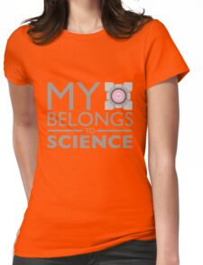 My Heart Belongs to Science ~ Companion Cube Womens Fitted T-Shirt