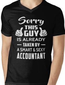 Sorry This Guy Is Taken By A Smart And Sexy Accountant Mens V-Neck T-Shirt