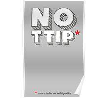No Ttip - Red Asterisk Poster
