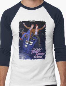 THE DOCTOR'S TIMEY-WIMEY ADVENTURE  (full cover) Men's Baseball ¾ T-Shirt