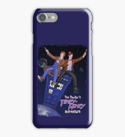 THE DOCTOR'S TIMEY-WIMEY ADVENTURE  (full cover) iPhone Case/Skin
