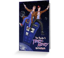 THE DOCTOR'S TIMEY-WIMEY ADVENTURE  (full cover) Greeting Card