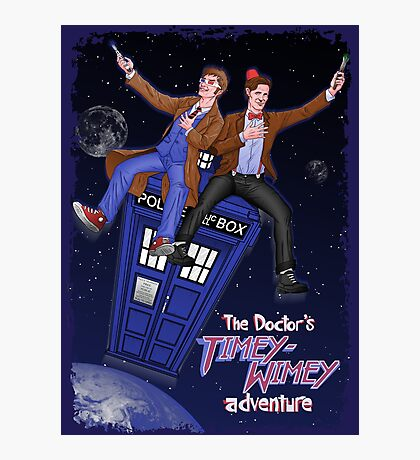 THE DOCTOR'S TIMEY-WIMEY ADVENTURE  (full cover) Photographic Print