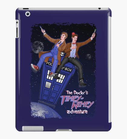 THE DOCTOR'S TIMEY-WIMEY ADVENTURE  (full cover) iPad Case/Skin