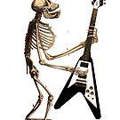 Ape Skeleton with Flying V by RichardSmith