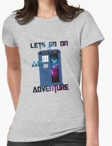 TARDIS-Let's go on an adventure #2 Womens Fitted T-Shirt