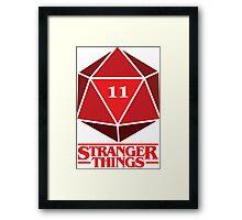 Stranger Things Dice Eleven Framed Print