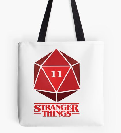 Stranger Things Dice Eleven Tote Bag