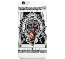 Fox on the rug iPhone Case/Skin
