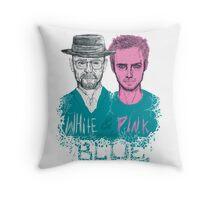 white&pink Throw Pillow