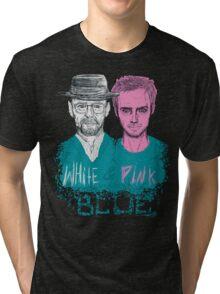 white&pink Tri-blend T-Shirt