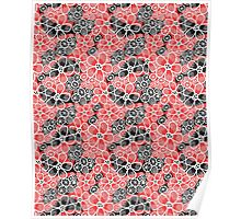 Graphic pattern and abstraction flowers Poster