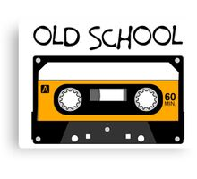 Old School Music Tape Compact Cassette Canvas Print