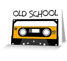 Old School Music Tape Compact Cassette Greeting Card