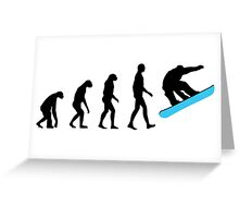 Evolution Snowboard Greeting Card