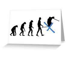 Evolution Ski Greeting Card