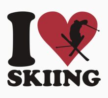 I love skiing Baby Tee