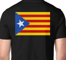 Estelada Flag, Catalan, Spain Spanish, Blue Estelada, Senyera Estelada, Starred flag, Lone Star flag, ON BLACK Unisex T-Shirt