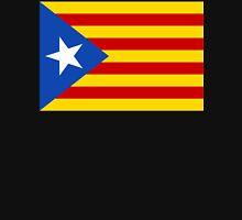 Estelada Flag, Catalan, Spain Spanish, Blue Estelada, Senyera Estelada, Starred flag, Lone Star flag, ON BLACK Unisex T-Shirt