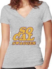SO CAL SWAGGER I'M SO DANG FANCY Women's Fitted V-Neck T-Shirt