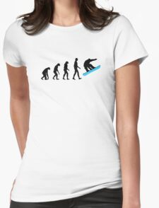 Evolution Snowboard Womens Fitted T-Shirt