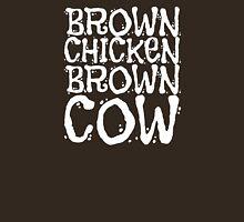 Brown Chicken Brown Cow - White Text Unisex T-Shirt