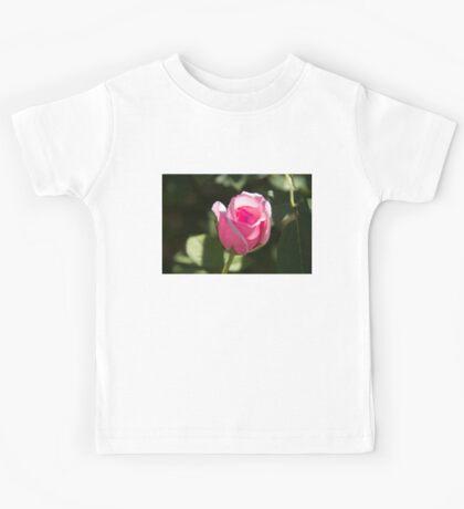 Pink Rose Bud Kids Tee