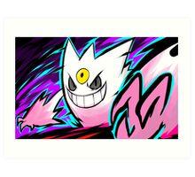 Shiny Mega Gengar | Nightmare Art Print