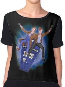 THE DOCTOR'S TIMEY-WIMEY ADVENTURE  Chiffon Top