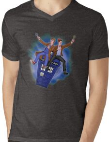 THE DOCTOR'S TIMEY-WIMEY ADVENTURE  Mens V-Neck T-Shirt